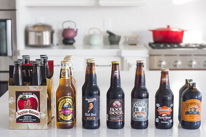 Root beer, butterscotch beer, and apple beer tasting