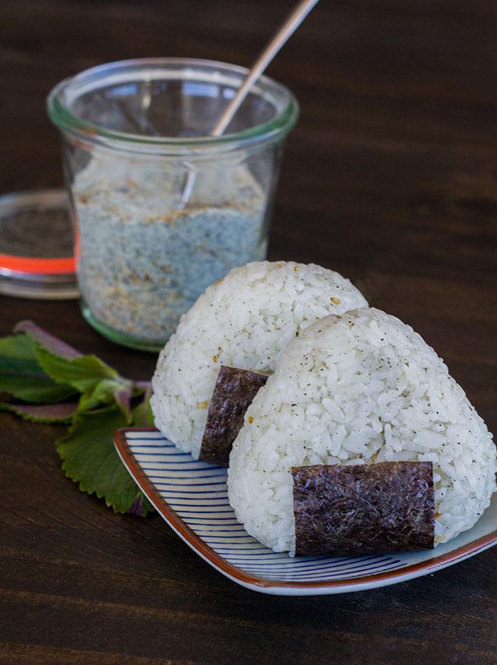 Shiso Goma Shio Onigiri (Shiso Sesame Salt Rice Balls)