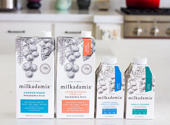 Milkadamia milks and creamers