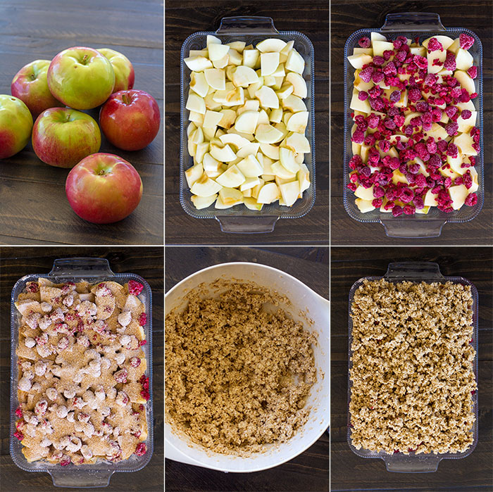 Making Apple Raspberry Crisp