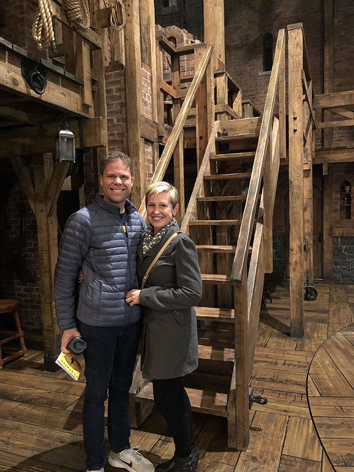 On the Set of Hamilton, the Broadway musical, NYC