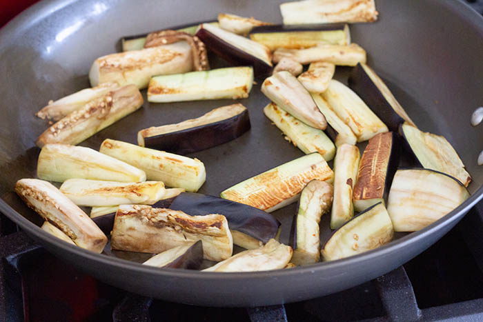 Cooking eggplant