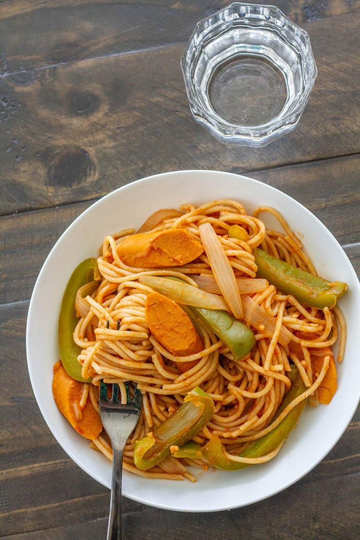Japanese Vegan Spaghetti Napolitan