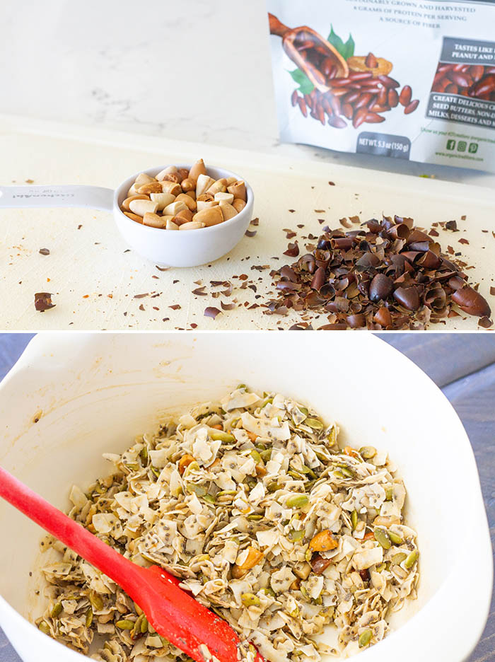 Making coconut clusters mixture