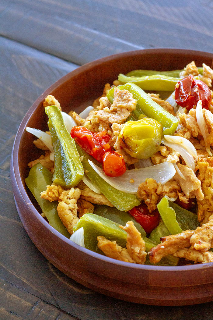 Oven-baked Tandoori (Soy Curl) Chicken Salad