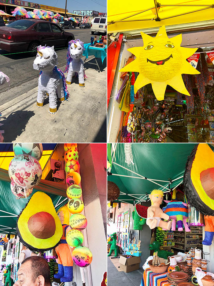 Pinatas in the Pinata District of Los Angeles, California