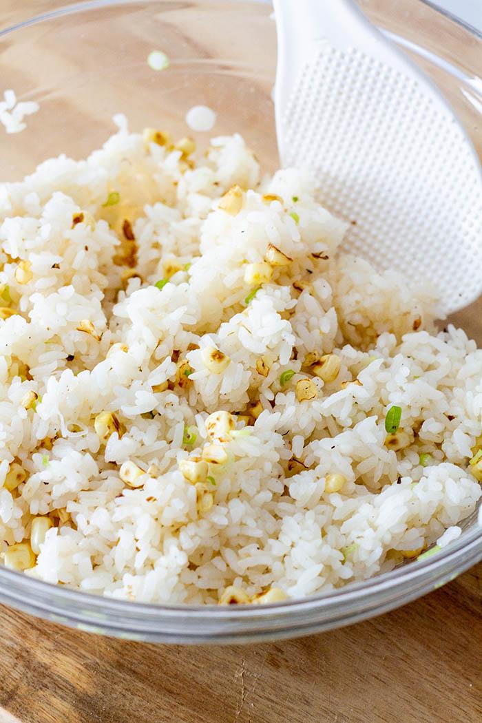 Charred Corn Onigiri Mixture