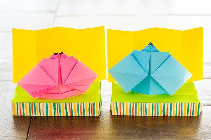 Origami Hina dolls