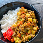 Japanese dry curry with rice