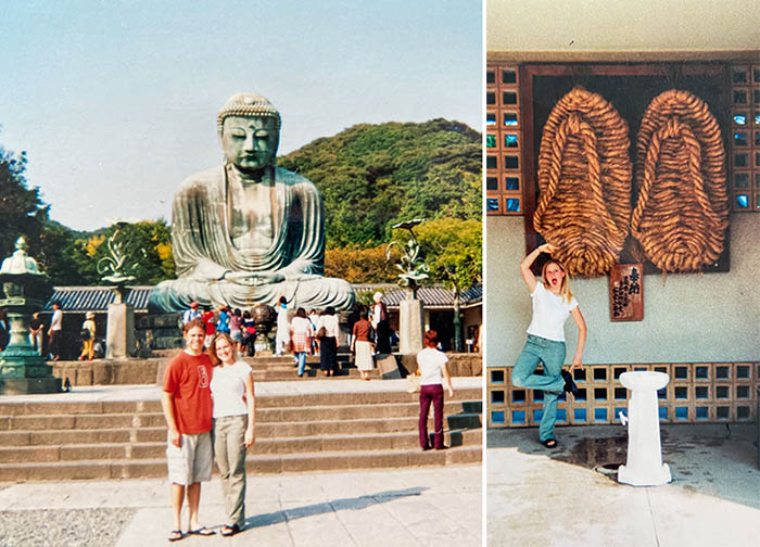 Visiting the Daibutsu, Great Budda statute, Kamakura 2002