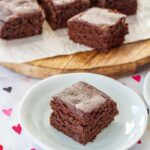 piece of fudgy spiced oat brownie