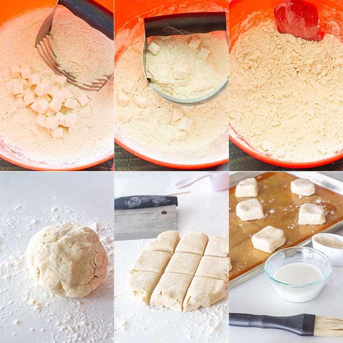 Making lavender scones